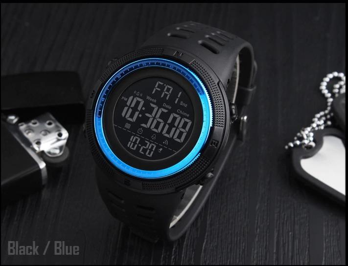 e4265f46a77 Relógio Skmei 1251 Led Digital Esportivo A Prova D´água Azul - R  59 ...