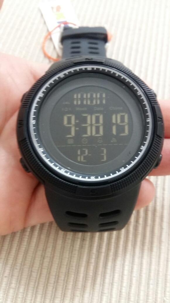 b74e0f8a0 relógio skmei 1251 led digital esportivo a prova d´água pret. Carregando  zoom.