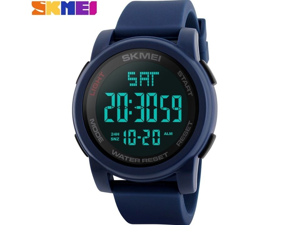 25836545311 Relógio Skmei 1257 Masculino Azul Digital A Prova De Água - R  109 ...