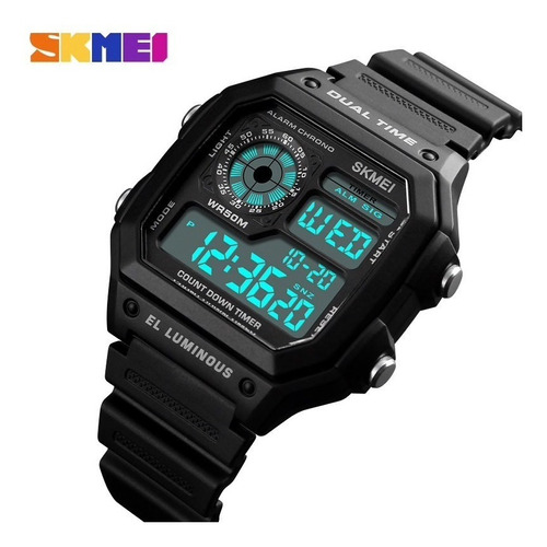 relógio skmei 1299 esportivo digital masculino + brinde
