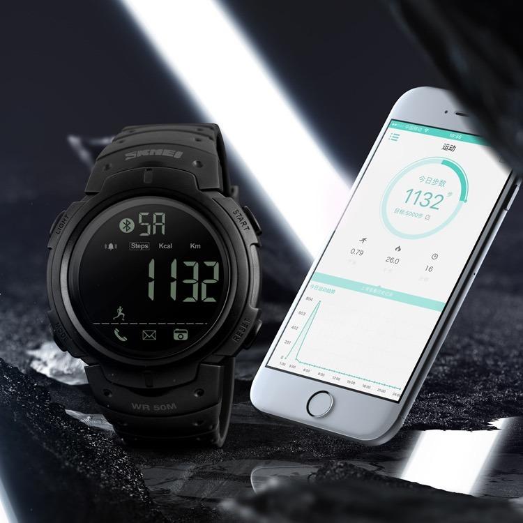fbcc4d3f59a Relógio Skmei 1301 Digital Esportivo Inteligente Bluetooth - R  110 ...