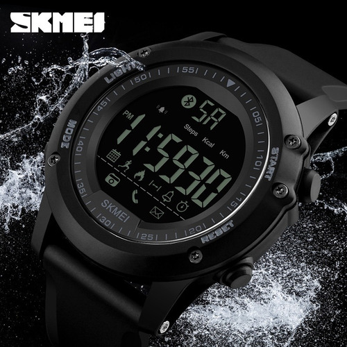 relógio skmei 1321 digital bluetooth smart masculino brinde