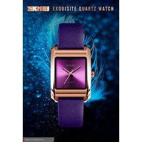 Relógio Skmei 1432 Feminino Pulseira Couro Original Fashion