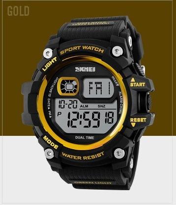 relógio skmei 5 atm para mergulhador, militar, alarme data