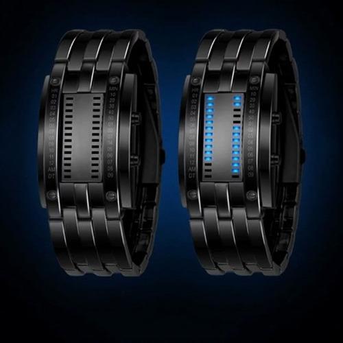 relógio (skmei 9026) led pulseira ip chapeado - promoção