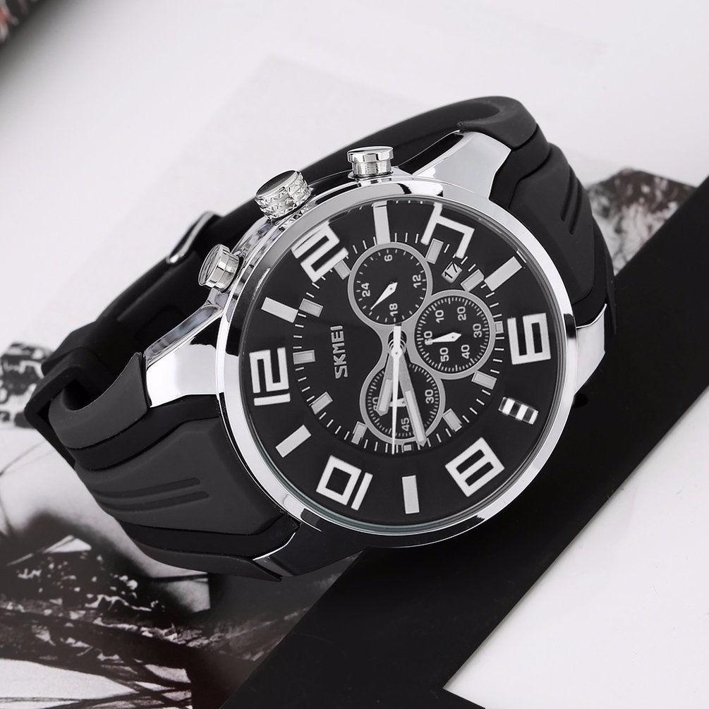63111a2fb3f relógio skmei 9128 pulseira borracha analógico em promoção. Carregando zoom.