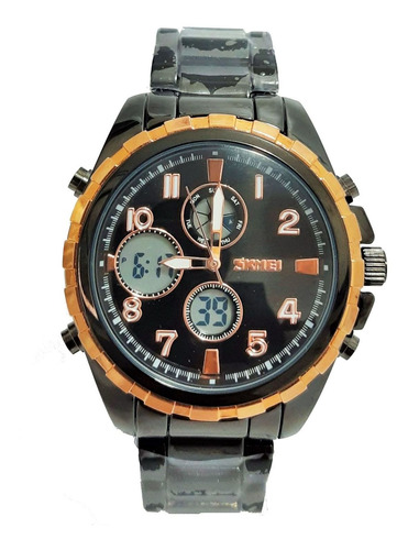 relógio skmei anadigi 1021 masculino original preto
