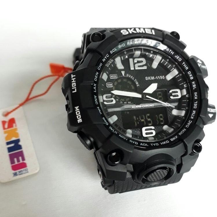 283b11e6fe4 Relógio Skmei Anadigi 1155 - Masculino - Preto - R  60