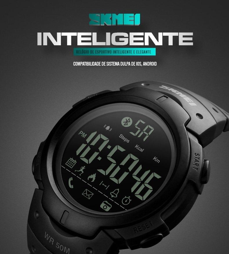 3ef5cae32a4b0 Relógio Skmei Bluetooth 1301 Smartwatch Promoção - R  95,80 em ...