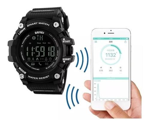 relógio skmei bluetooth compatível sistema android e ios