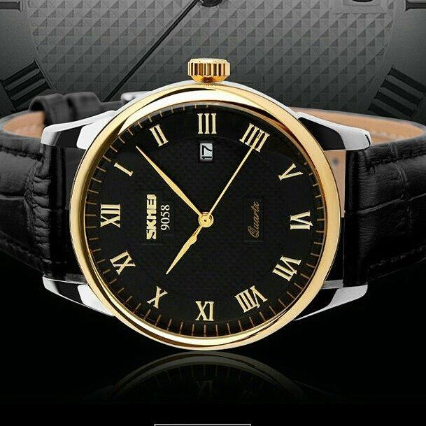 05906028c57 Relógio Skmei De Luxo Original Analógico Modelo 9058 - R  120