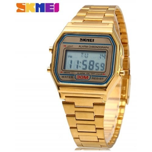 b0197b29920 Relógio Skmei Digital 1123 Dourado Original Pronta Entrega - R  60 ...