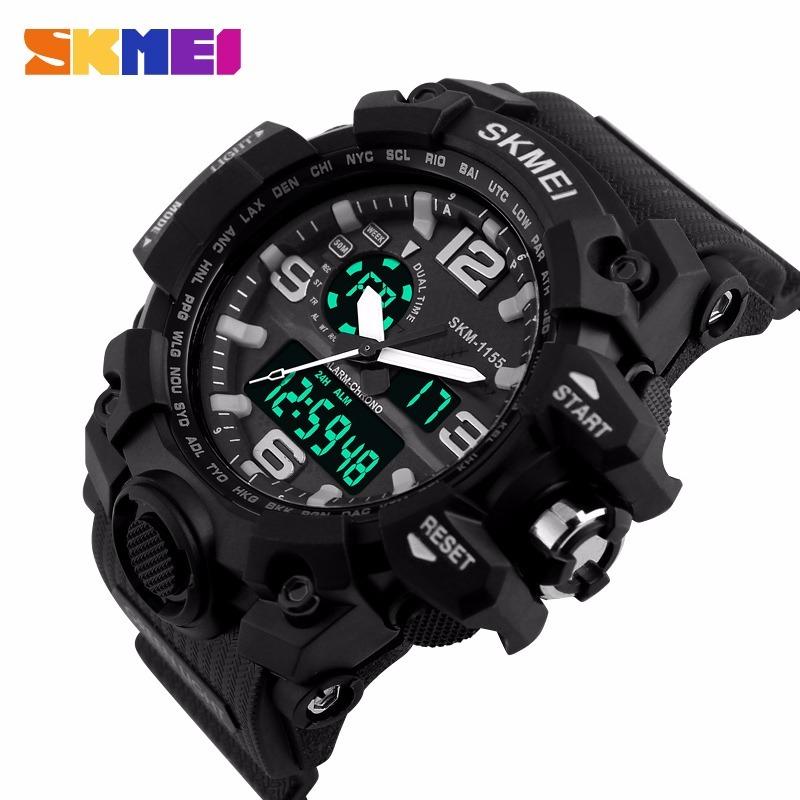 1a920ccb846 relógio skmei led digital original modelo 1155 preto branco. Carregando  zoom.