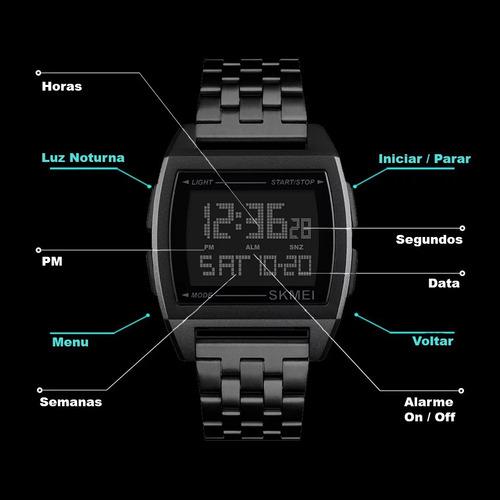 8e80bcbee8e Relógio Skmei Masculino 1368 Digital Esportivo Original - R  89