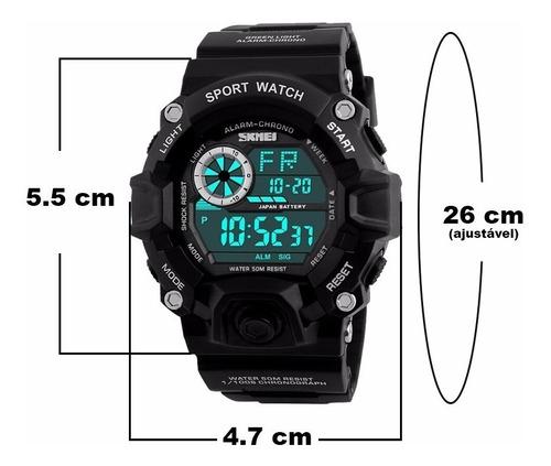 relógio skmei masculino esportivo militar à prova d'água