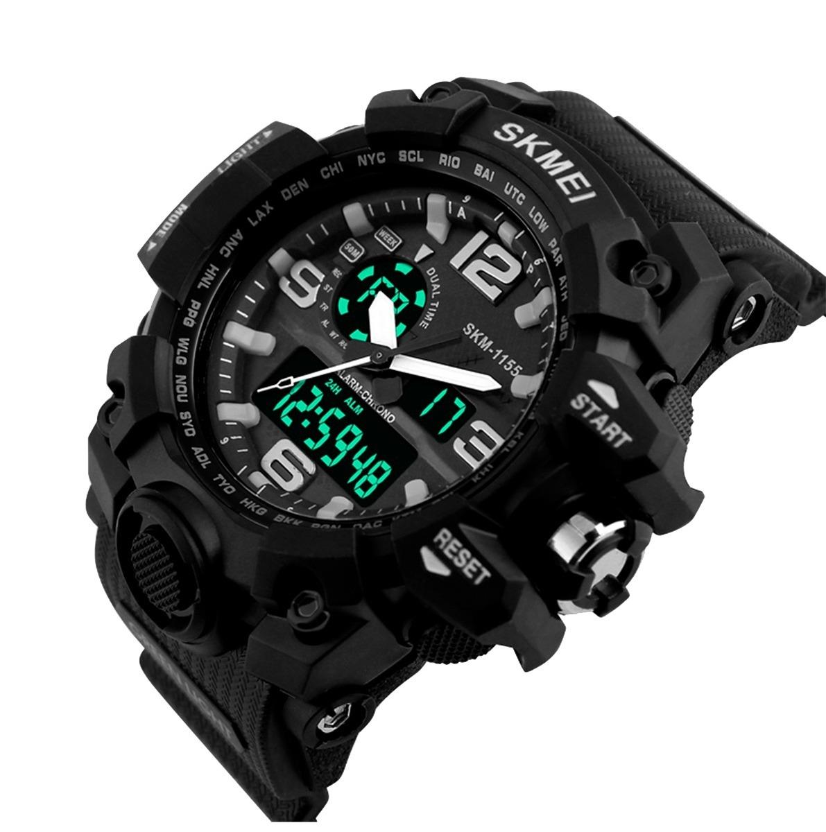 e53c221810b ... relógio skmei militar esportivo mod 1155 prova d água 50 mts. Carregando  zoom.