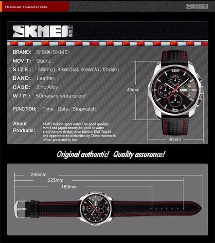 relogio skmei original mod. 9106 com cronógrafo funcional