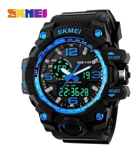 relógio skmei original modelo 1155 preto prova d'água