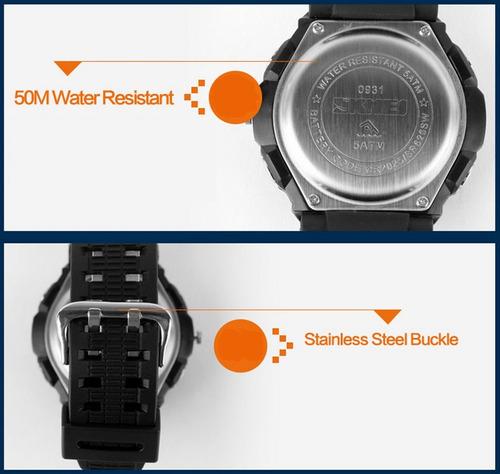 relogio skmei s-shock analogico digital prova d'água 0931