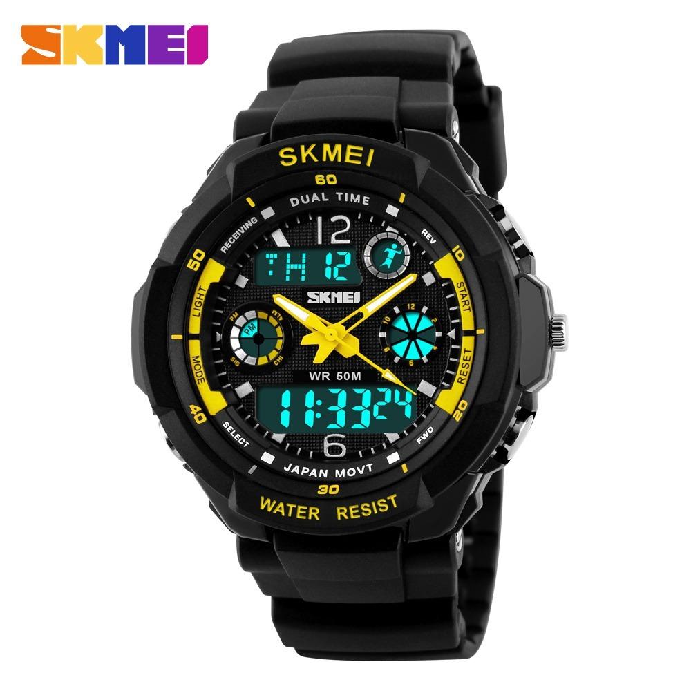 2d041836ecc relógio skmei s-shock digital analógico barato várias cores. Carregando zoom .