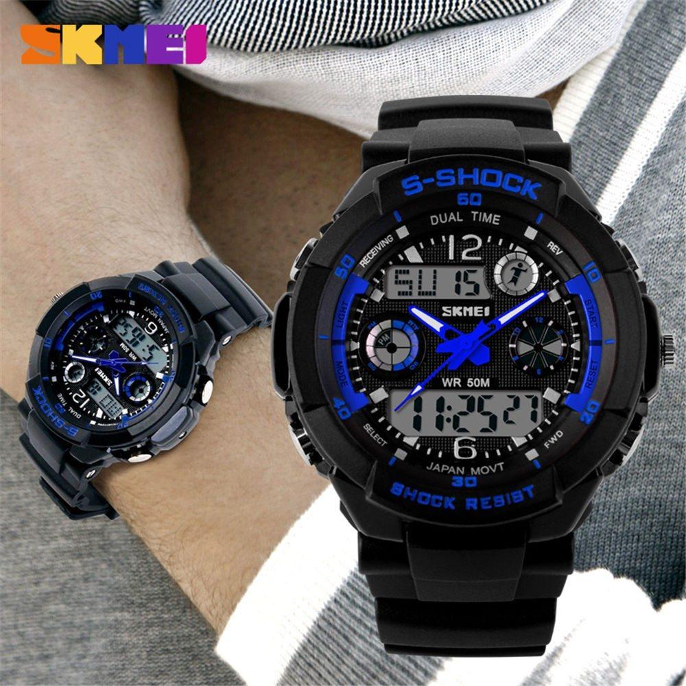 80537b1c9f0 relógio skmei s-shock resistente à água esportivo masculino. Carregando  zoom.