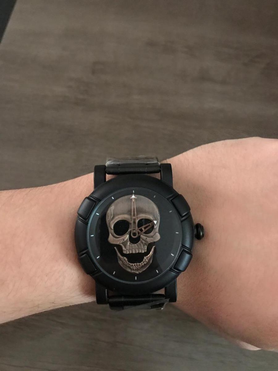 f4cf8ba5075 Relógio Skmei Skull + Relógio Skmei A Prova D água - R  184
