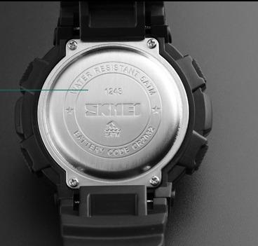 relógio skmei tático militar original  prova d  água 1243
