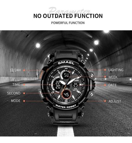 relógio smael 1708 preto com caixa original / pronta entrega