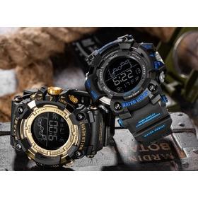 Relógio Smael 1802 Com Caixa / Garantia / Dourado / Top