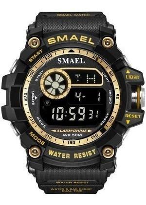 relógio smael esportivo 8010 - resis. a água + brinde