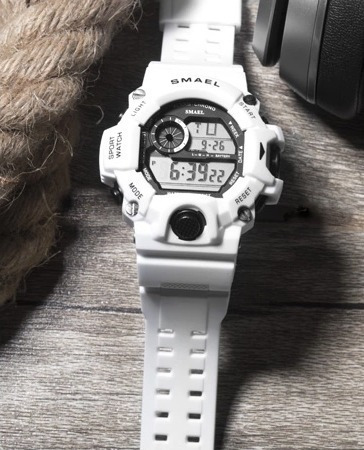 relógio smael esportivo digital à prova d'água original