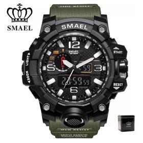 Relógio Smael Original Na Caixa Tático A Prova D' Agua