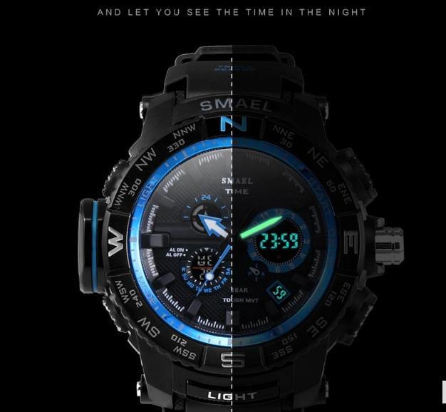 dfbda2fadb8 Relógio Smael Time S-shock 1531 Esportivo A Prova D água A6 - R  138 ...