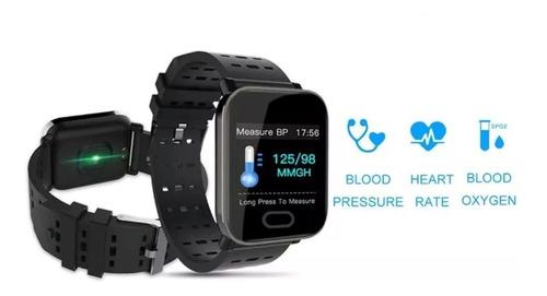 relógio smart bracelet monitor cardíaco pressão arterial a6