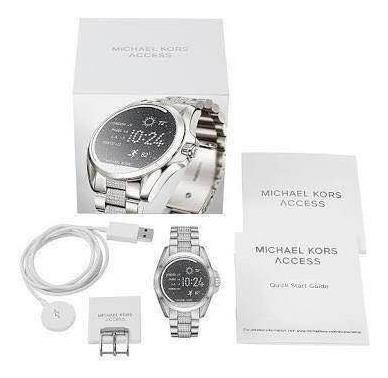 relogio smart michael kors mkt-5000 prata c/ pedras swarovsk