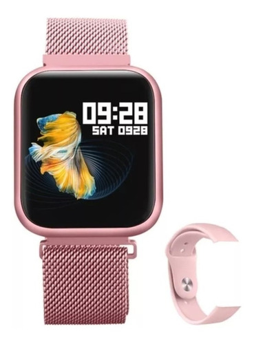 relógio smart watch oled pro/ p70 band inteligente rose