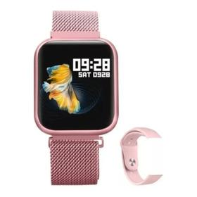 Relógio Smartband Inteligente Esportivo P70 Bluetooth Rosê