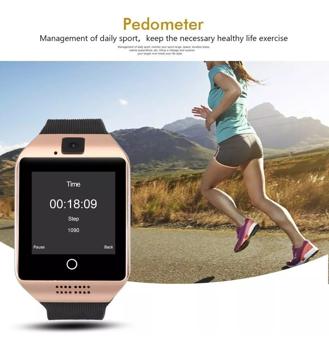 Relógio Smartwatch Bluetooth Q18 Chip Touch Android S4 S5