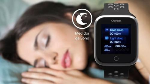 relógio smartwatch champion feminino rosa ch50006r celular