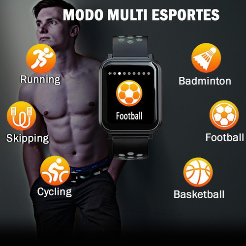 relógio smartwatch colmi m28 ios/android batimento cardiaco