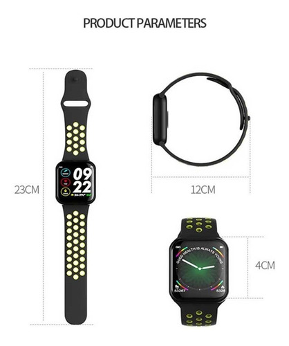 relogio smartwatch f8 troca pulseira ip67 ios iphone android