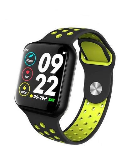 relogio smartwatch f9 troca pulseira ip67 ios iphone android
