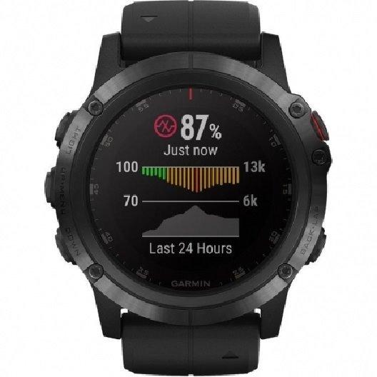 7c9ebc4c293 Relogio Smartwatch Garmin Fenix 5x Sapphire Preto - R  3.700