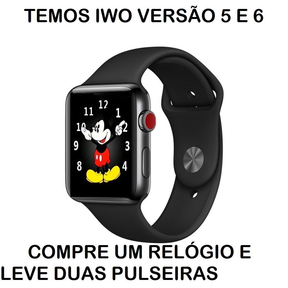88d8a393191 relogio smartwatch iwo black friday promoção duas pulseiras. Carregando  zoom.