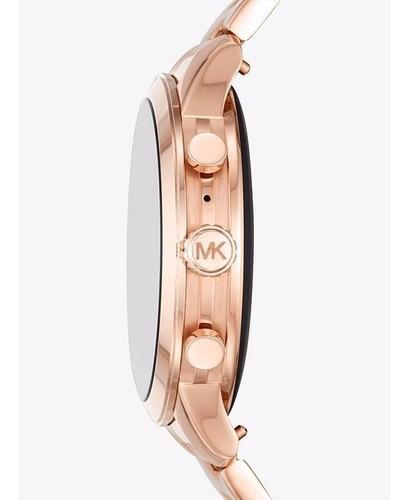 relogio smartwatch michael kors access runway mkt5054 rosé