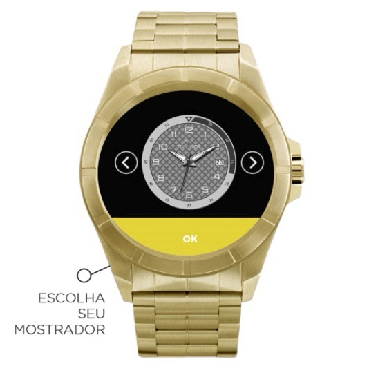 4d9af943f2281 Relógio Smartwatch Technos Connect Srab 4p Dourado + Kit Top - R ...