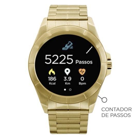 7db672daeb5 Relógio Smartwatch Technos Connect Srab 4p Dourado + Kit Top - R ...