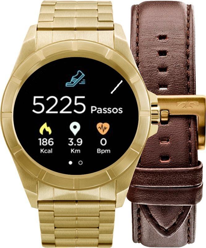 a6fb9b188b23e Relógio Smartwatch Technos Connect Srab 4p + Pulseira Couro - R  899,00 em  Mercado Livre