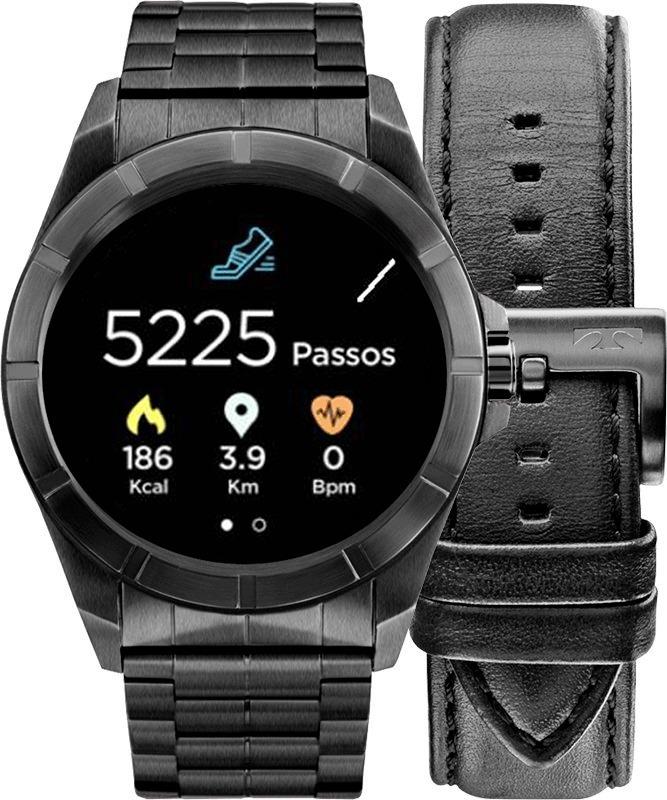 Relógio Smartwatch Technos Connect Srac 4p + Pulseira Couro - R  1.099,00  em Mercado Livre 2b951a29ea