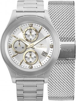 Relógio Smartwatch Technos Connect Srad 1p + Pulseira Aço - R  879 ... 8d3beec876